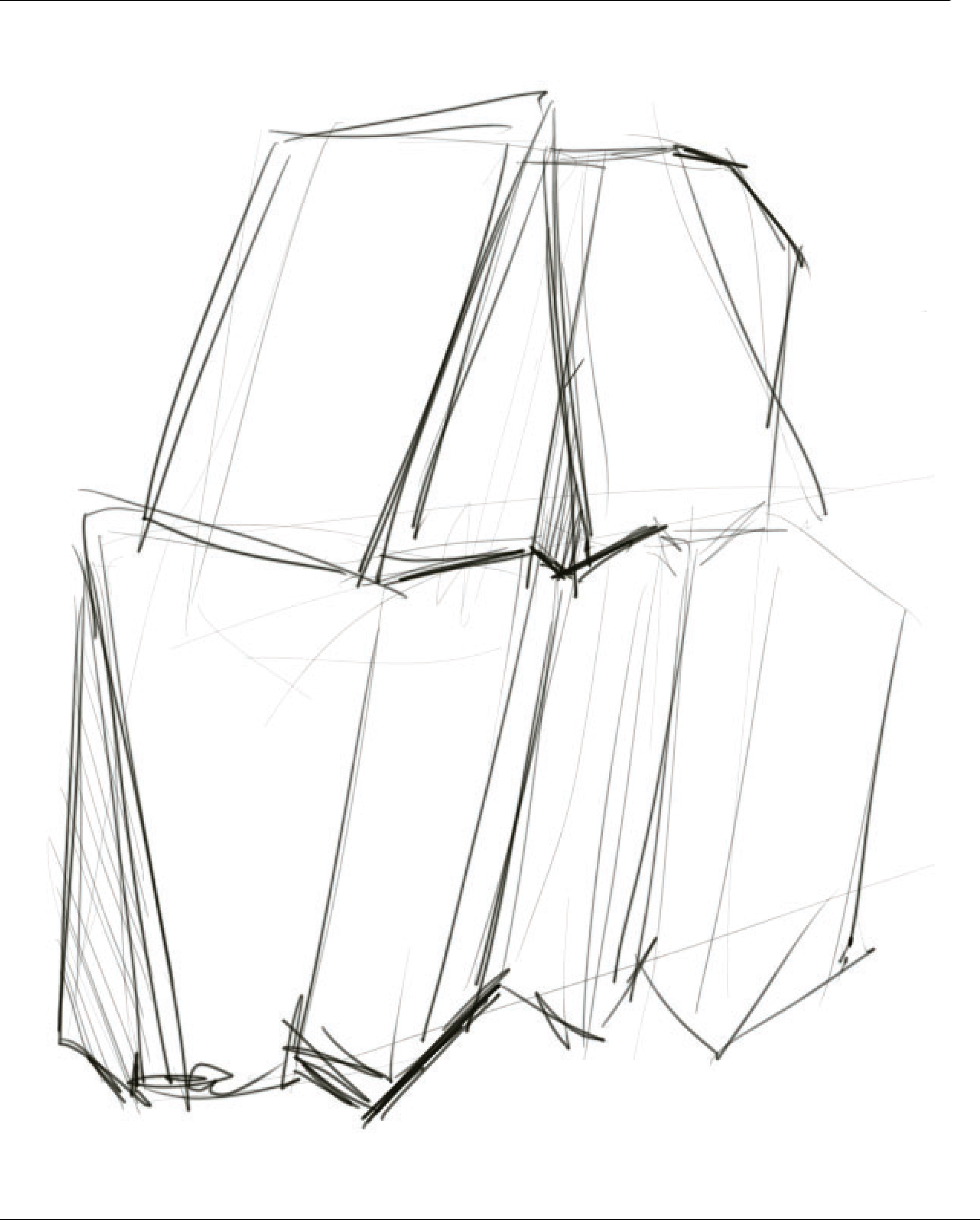 my little frank gehry ideation of the iac building