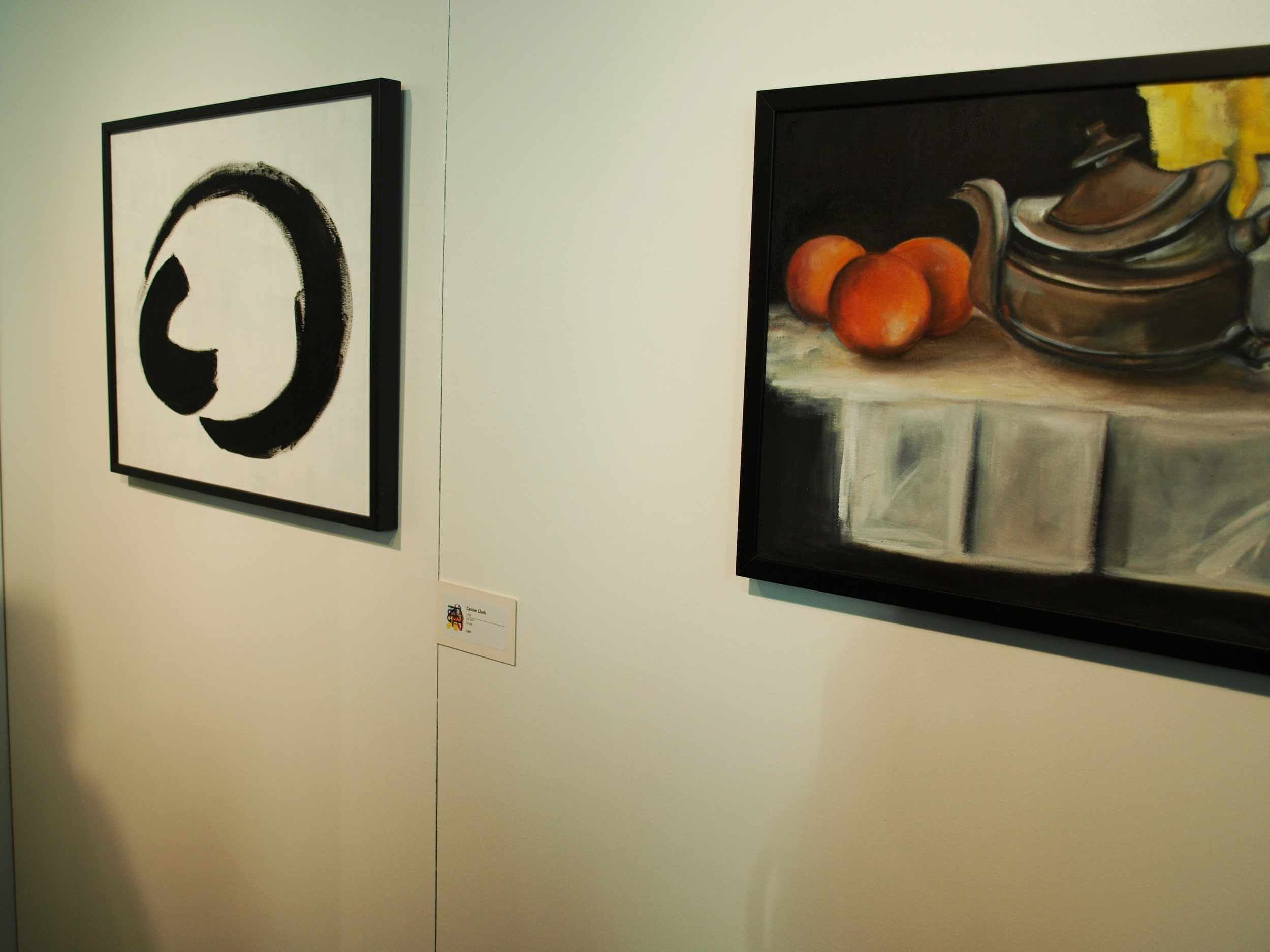 both of my paintings, line (acrylic) and atmosphere distribution (oil)