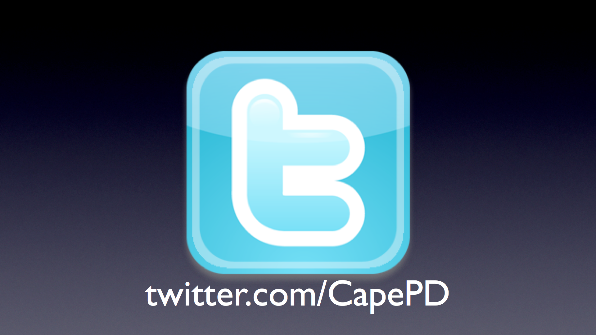PHOTO:  The Twitter logo and address for the Cape Coral Police Department.  (Photo Courtesy of Cape Coral Police Department)