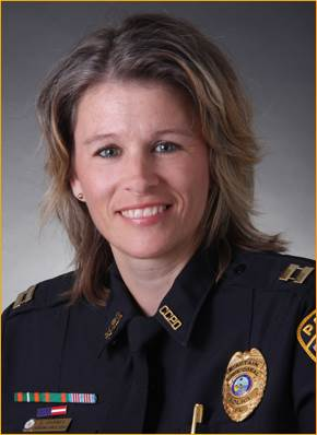 PHOTO:  Captain Lisa Barnes has been with the Police Department since 1991. She is currently the Investigative Services Bureau Commander and she oversees Property Crimes, Major Crimes Unit (Persons), Street Crimes Unit, Vice, Intelligence, and Narcotics Unit (VIN), Special Investigations Unit, Crime Analysis Unit, and Forensics. She holds a Bachelor's degree from Barry University in Professional Administration as well as a Master's Degree in Public Administration from Barry University.  (Photo Courtesy of Cape Coral Police Department)