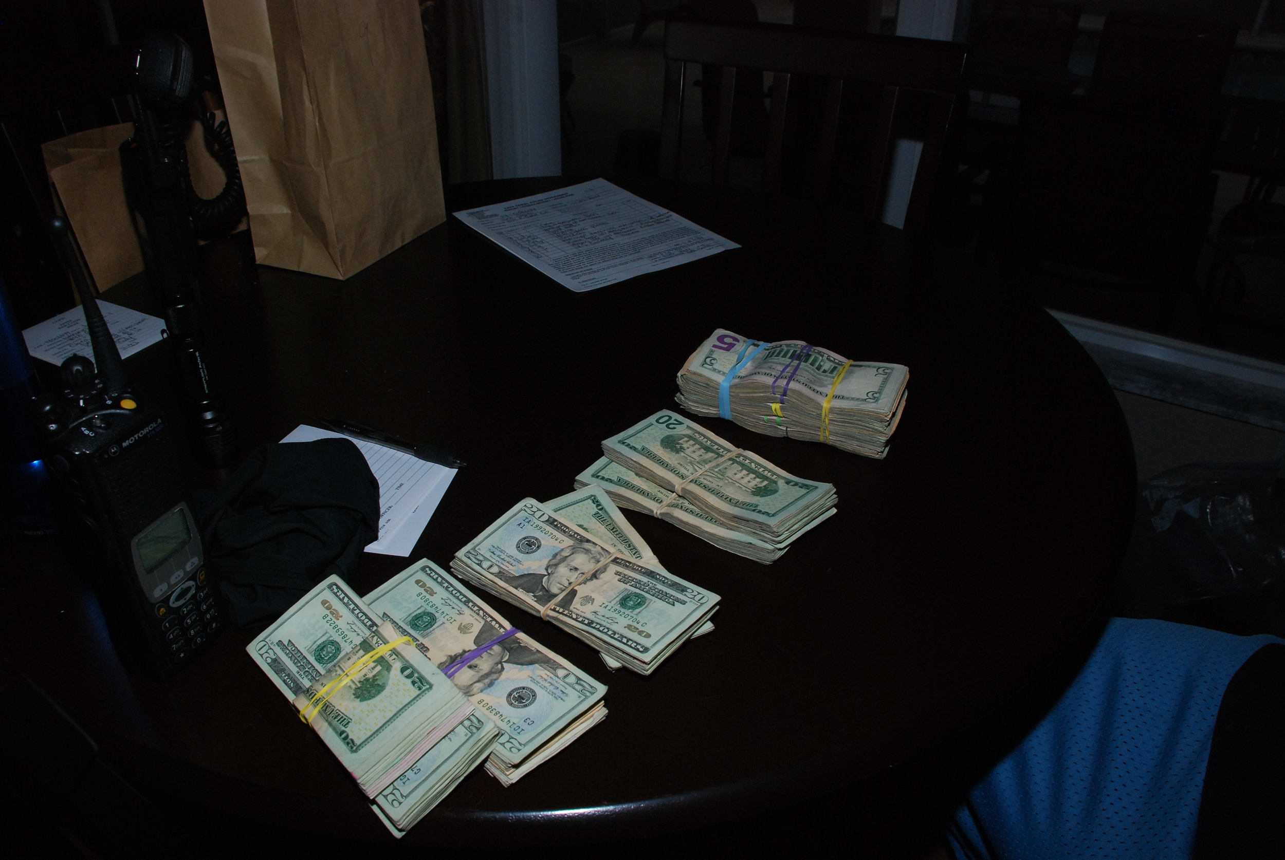 PHOTO: Photos taken from the search warrant service at 4114 East Gator Circle, Cape Coral. A marijuana grow house was dismantled and 57 pounds of marijuana and $13,000 in cash wereseized. (Photo Courtesy ofCape Coral Police Department)