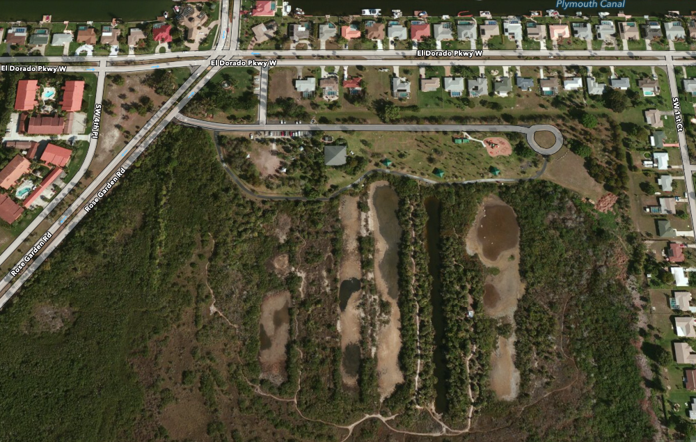 PHOTO:  Aerial photo showing Glover Bight park and its nature trail.  (Photo Courtesy of  Apple )