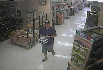 PHOTO: Photos of credit card fraud suspect who purchased an iPad with a stolen credit card from Wal-Mart (1619 Del Prado Blvd. S.) on February 18, 2014. (Photo Courtesy of Cape Coral Police Department)