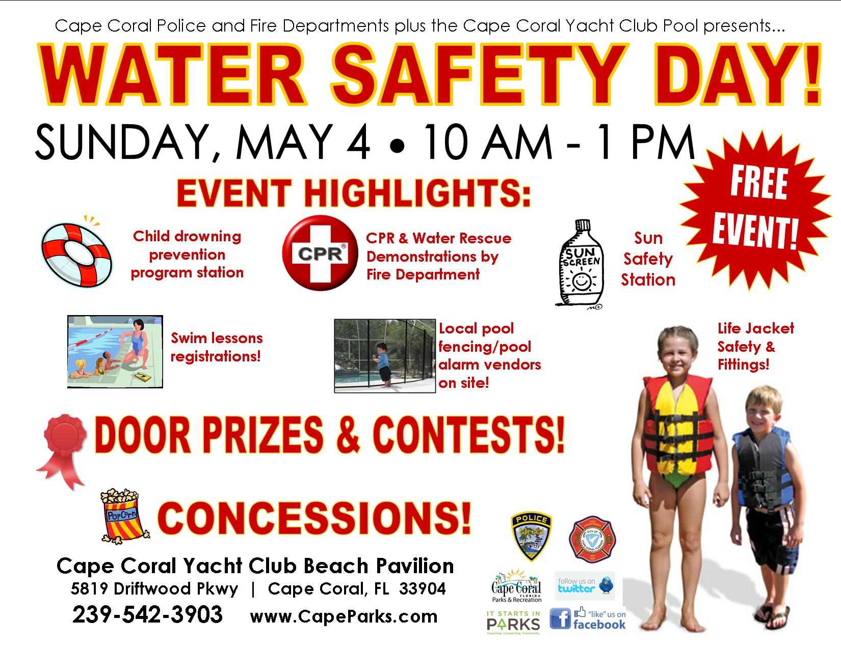 PHOTO: Image of the Water Safety Day Flyer. (Photo Courtesy of Cape Coral Police Department)