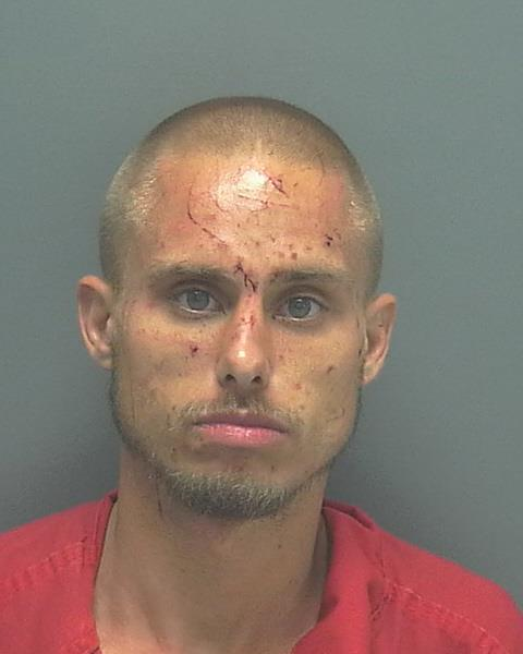PHOTO:  Arrested- Shawn M. Koehn, W/M, DOB: 02-25-1988, Homeless.  (Photo Courtesy of  LCSO )