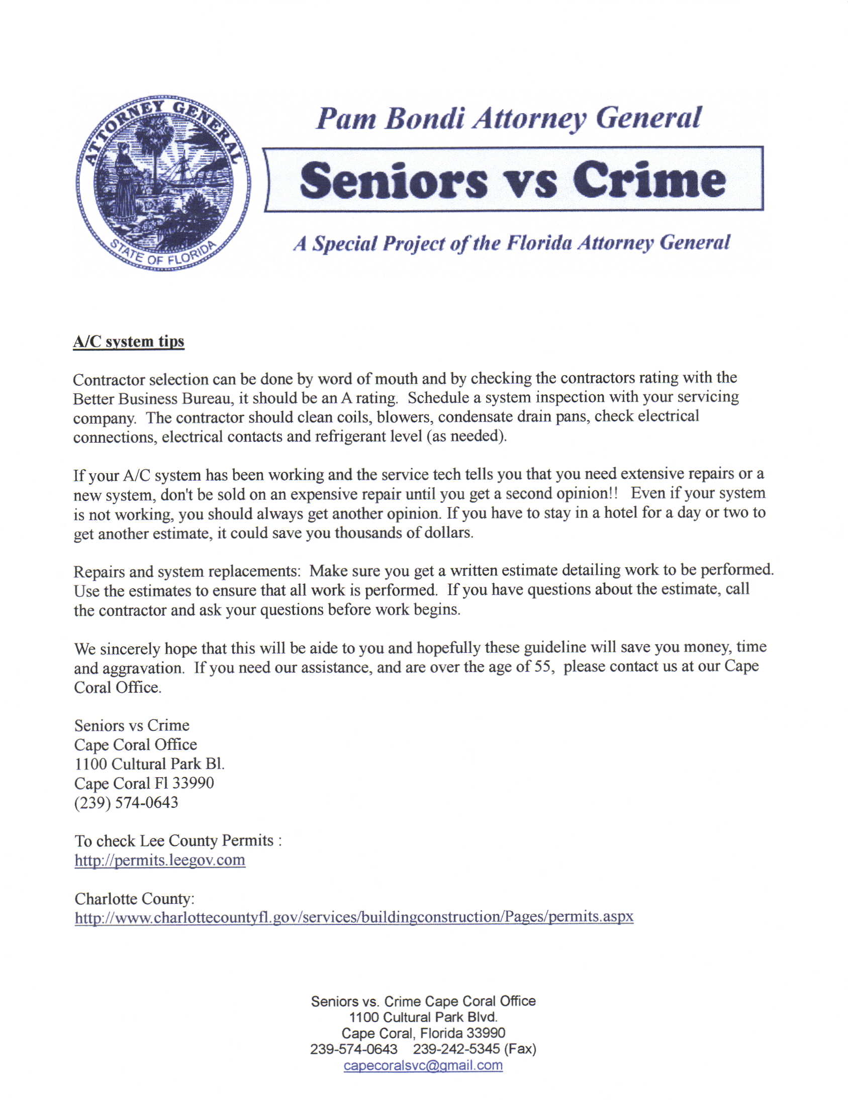 A Seniors vs  Crime Consumer Protection Notice From The