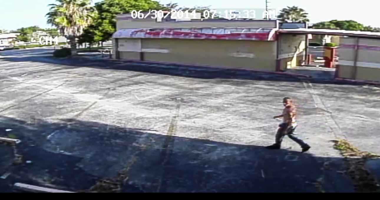PHOTO: Still photos from surveillance video of a burglary suspect. (Photo Courtesy ofCape Coral Police Department)