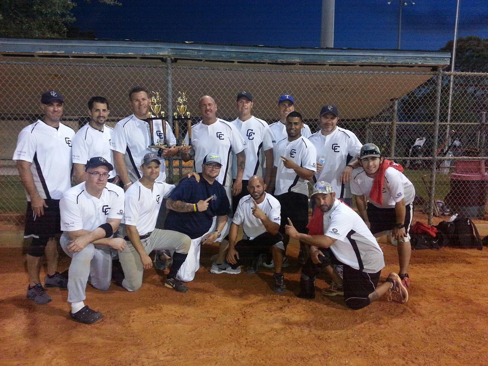 PHOTO:  A photo of the Cape Coral Police Department team following the 2013 Charity Softball Tournament.  (Photo Courtesy of Detective Nicholas Jones, Cape Coral Police Department)