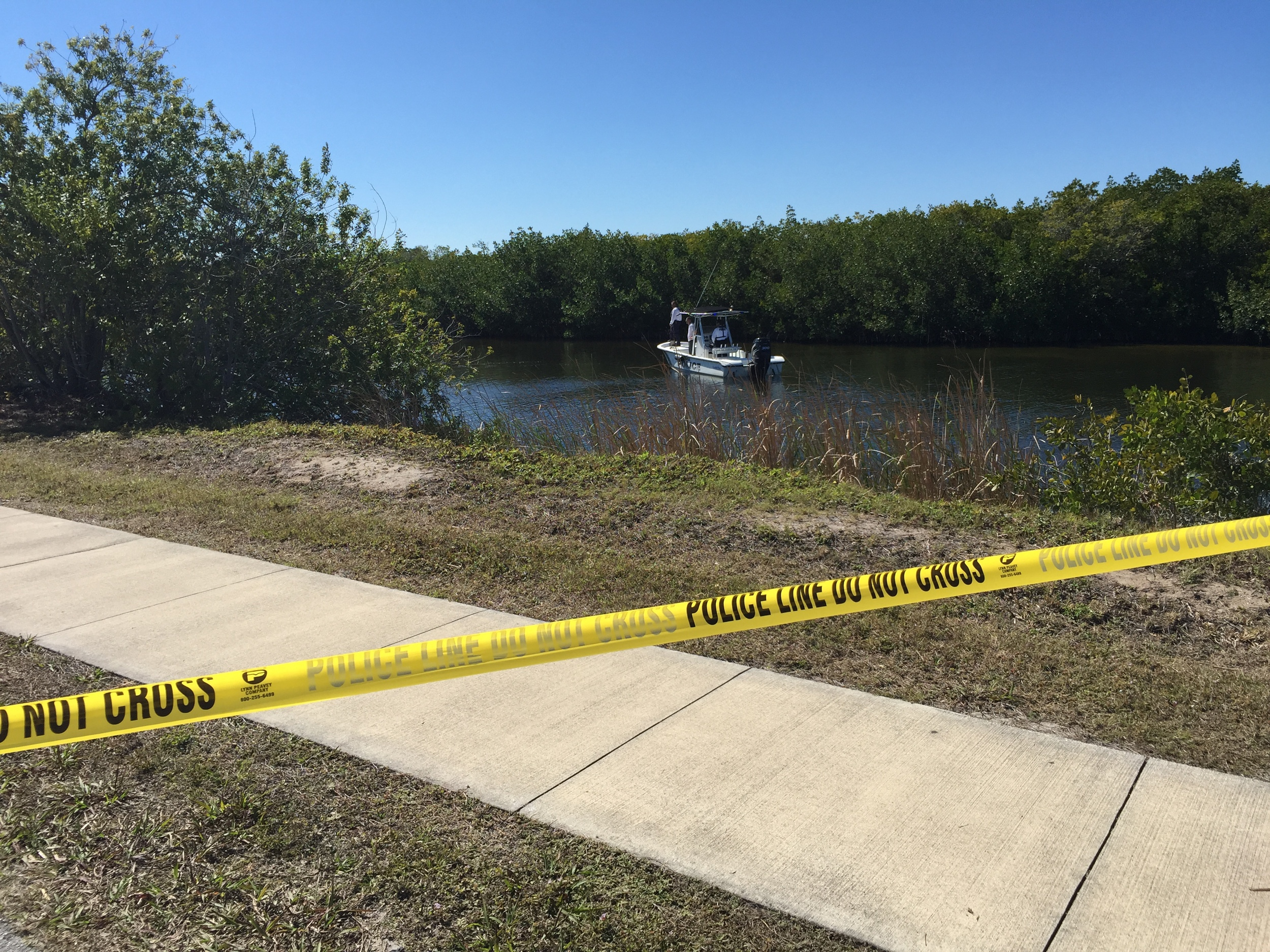 PHOTO: Cape Coral Police Department responded to a single vehicle fatality crash involving an SUV that went into a canal at the intersection of Beach Parkway W. and Surfside Boulevard. Here, the Cape Coral Police Department Marine Unit assists with the recovery of the vehicle from the water.(Photo Courtesy of Cape Coral Police Department)