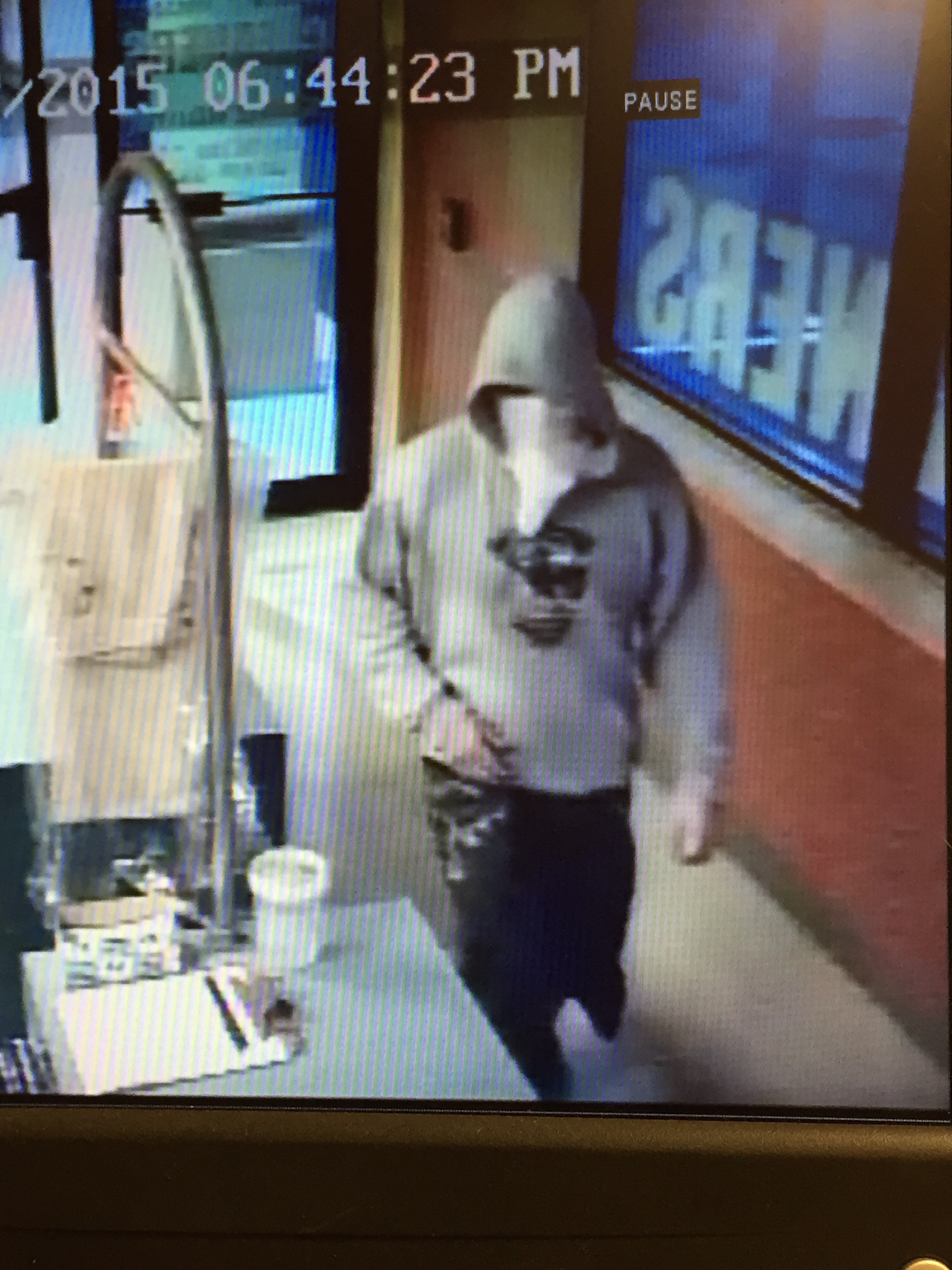 """PHOTO: Robbery suspect isdescribed as a white male, approximately 30 years old, 6""""00"""", 190 lbs., wearing black sneakers. The shorts in the photobelow appear to be jeans which were cut and made into shorts.(Photo Courtesy of Cape Coral Police Department)"""