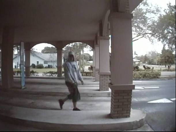 "PHOTO:   The robbery suspect was described as a white male, approximately 30 years old, 6""00"", 190 lbs., wearing black sneakers. The shorts in the photo appear to be jeans which were cut and made into shorts .  (Photo Courtesy of Cape Coral Police Department)"