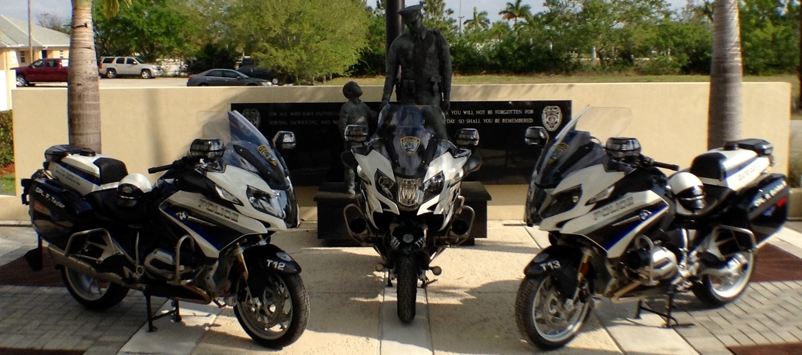 PHOTO: Today, the Cape Coral Police Departmentunveiled its new Police Motorcycle, the BMW R-1200-RT-P Authority . (Photo Courtesy of Cape Coral Police Department)
