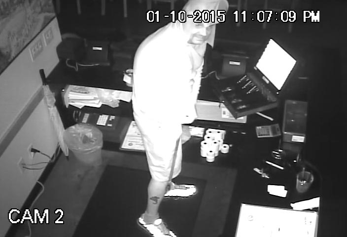 PHOTO:  Surveillance video still of burglary suspect.  (Photo Courtesy of Cape Coral Police Department)