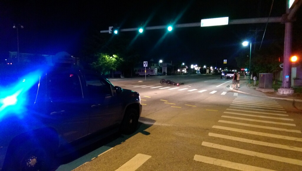 PHOTO: Officers investigated the crash scene in the 600 block of Cape Coral Parkway East for several hours last night. Alcohol and drugs were a factor according the Major Crash Investigator. (Photo Courtesy of Cape Coral Police Department)