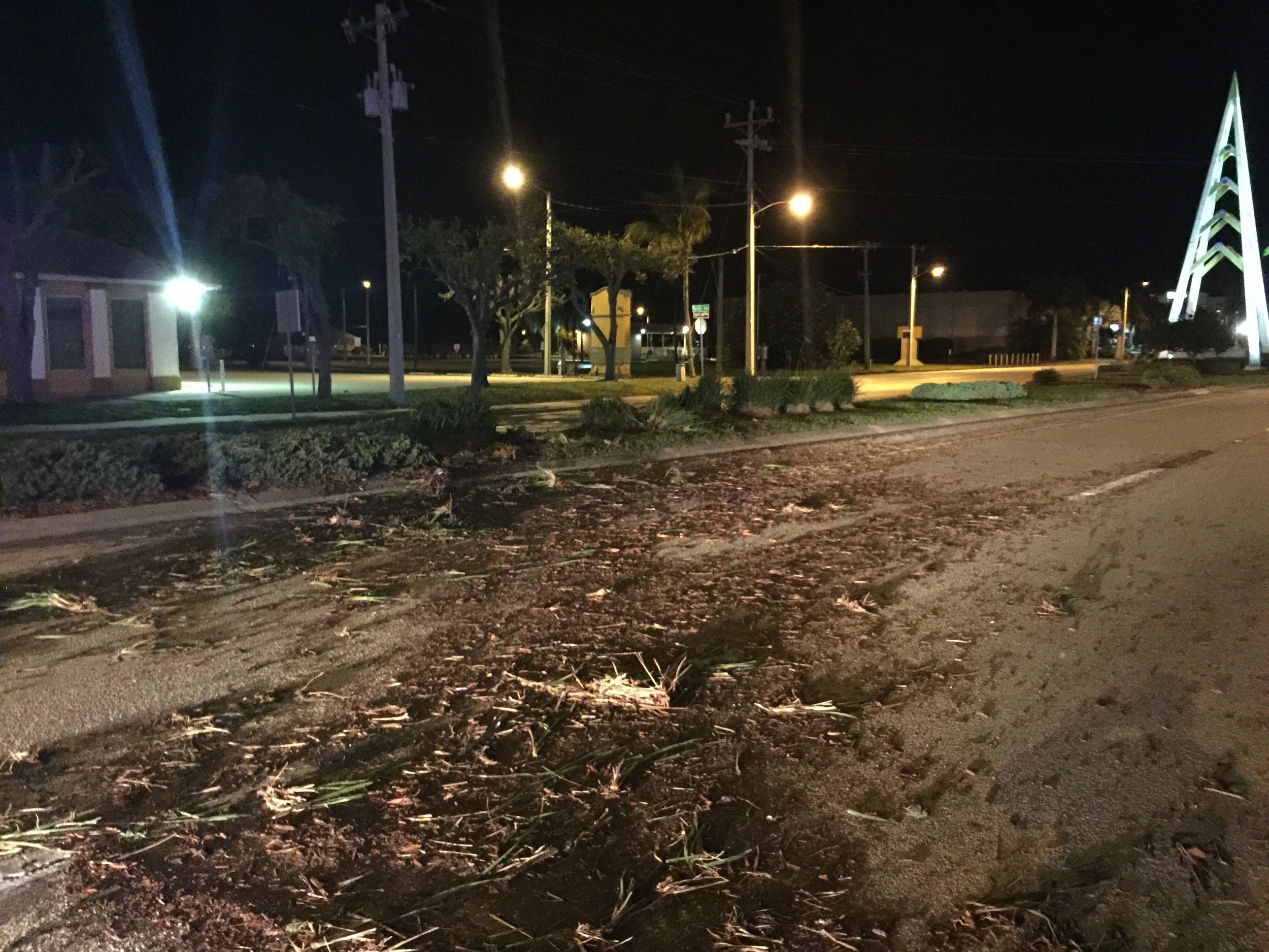 Median Damaged by DUI Driver