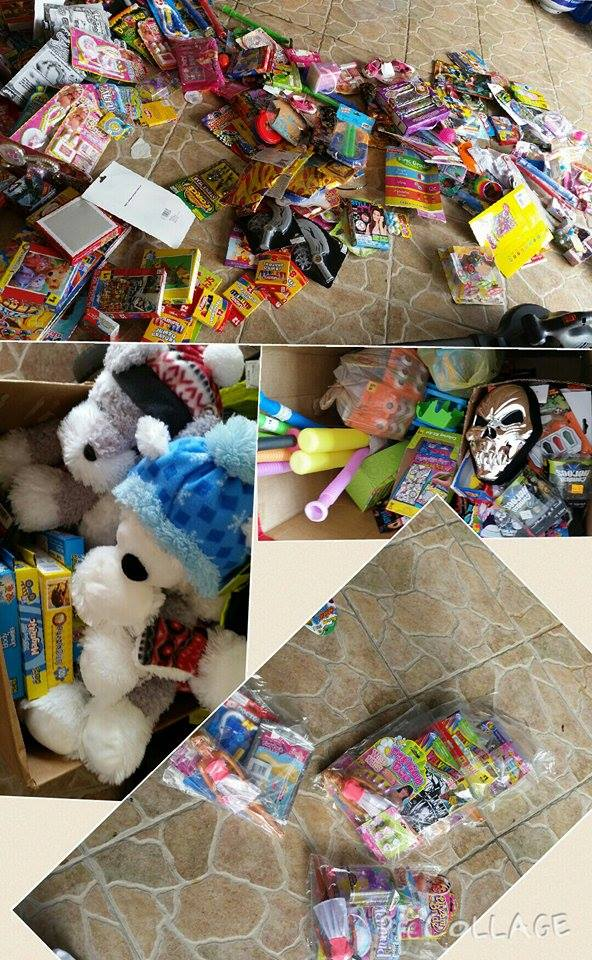 PHOTO:  The spouse of one of our officers reached out to several Dollar General stores and helped with the collection of toys for the Fill the Boat Toy Drive, donating time to collect, organize, and repackage the toys into small gift bags to help our volunteers.  (Photo Courtesy of Kimmy Leger)