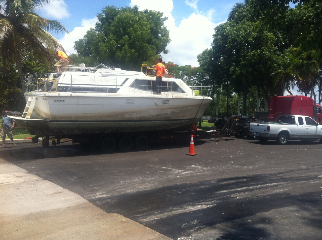 """PHOTO: The derelict vessel """"Bulldog"""" was removed from a canal in the 1100 block of Lucerne Avenue Tuesday afternoon, thanks to the cooperation of several local, state, and federal agencies. (Photo Courtesy of Cape Coral Police Department)"""