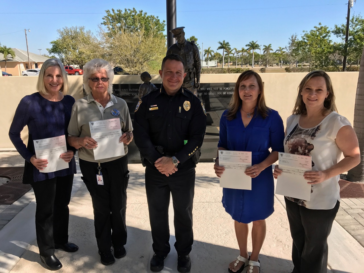 2017 Law Enforcement Trust Fund Donation presentation (Photo Courtesy of Cape Coral Police Department)