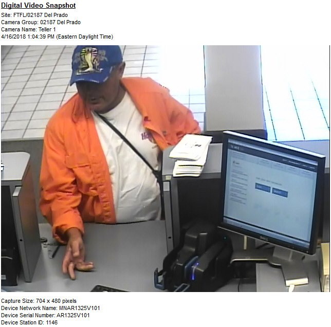 Cape Coral Police Department Working Bank Robbery on Del