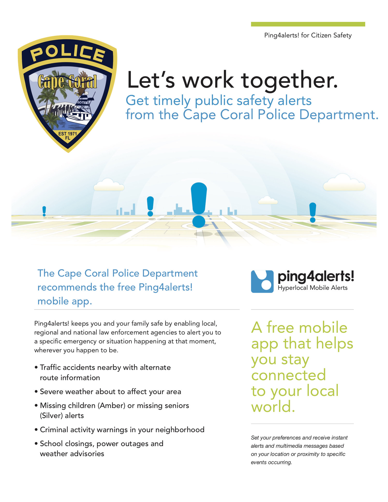 Ping4alerts! — Cape Coral Police Department