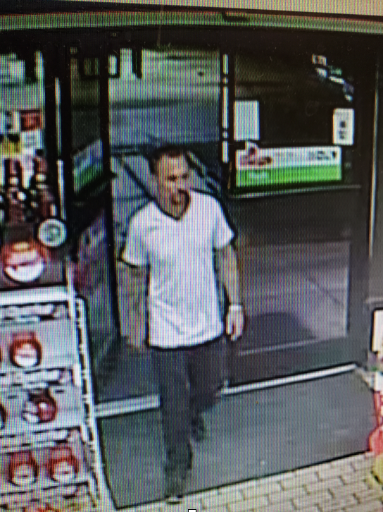 Robbery Suspect - W/M, possibly in his 40's, Height: 5'09