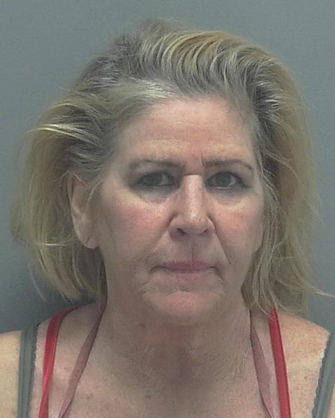 ARRESTED: Julie Wickey, W/F, DOB: 07/01/1956, of North Fort Myers - CHARGES: DUI, Possession of Cannabis under 20 grams, and Possession of Drug Paraphernalia