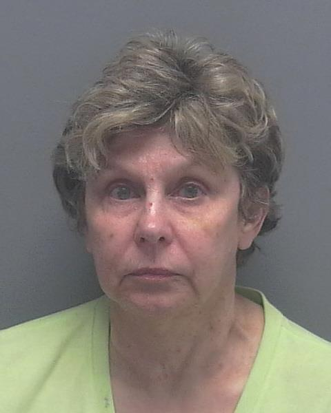 ARRESTED: Gloria Grego, W/F, DOB: 01/07/1948,2522 Anguilla Drive - CHARGES: DUI, 2-counts of DUI with Property Damage, and 2-counts of Leaving the Scene of a Traffic Crash with Property Damage