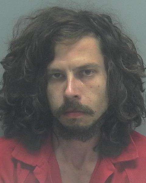 ARRESTED: Bryan Clinton Gibson, W/M, DOB: 10/06/1984,Homeless - CHARGES: 2-counts of False Imprisonment, 2-counts of Petit Theft, Battery, Possession of a Controlled Substance, and 4-counts Possession of a Controlled Substance