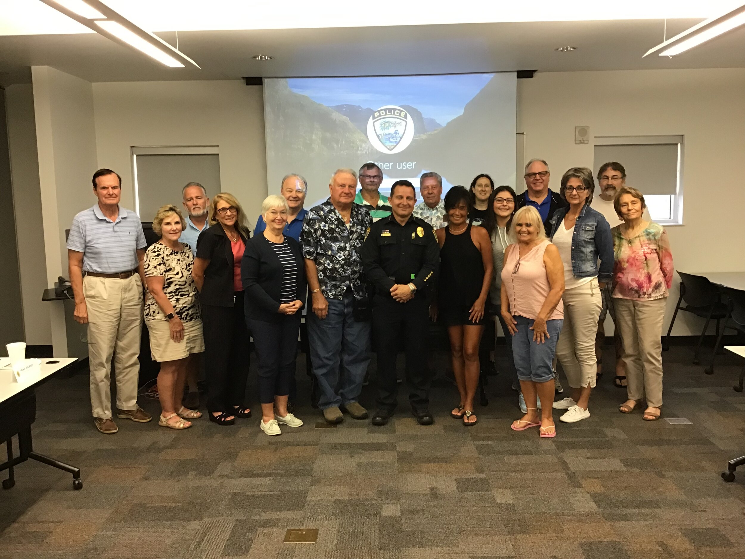 The 43rd Citizen Police Academy Class with Chief Newlan