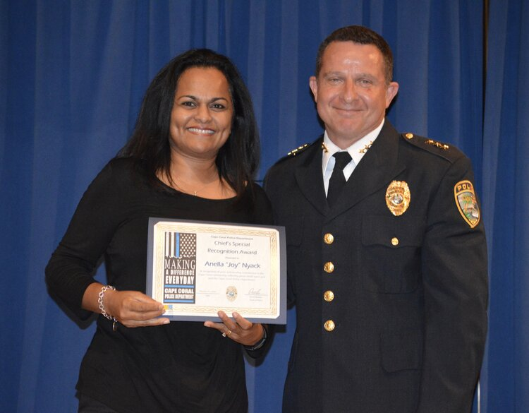 """Community Outreach Coordinator Anella """"Joy"""" Nyack (Chief's Special Recognition Award)"""