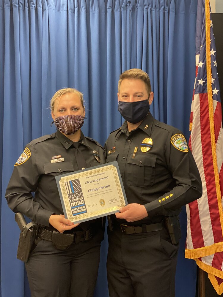 Ofc. Christy Periam, Lifesaving Award recipient