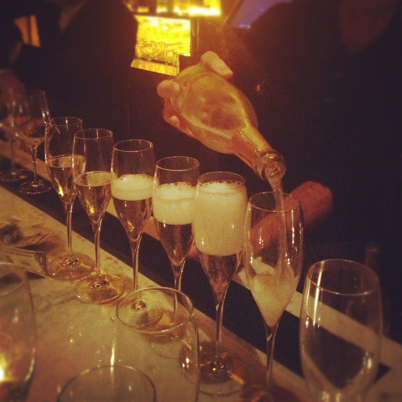 The prosecco was flowing at Antica Pesa!
