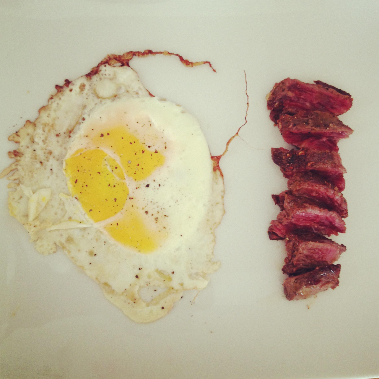 Paper bag princess steak and eggs.JPG