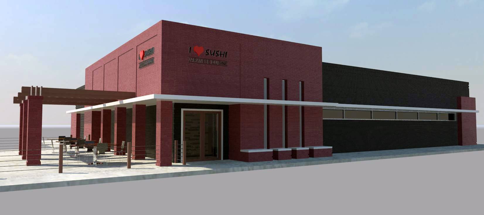 Rendering of Exterior and Entry