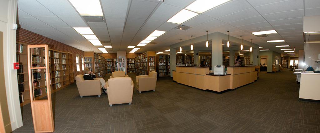 Entry Reading Area & Circulation Desk