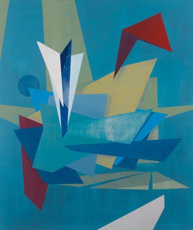 Blue Canards, oil on linen, 32 x 20, 2016