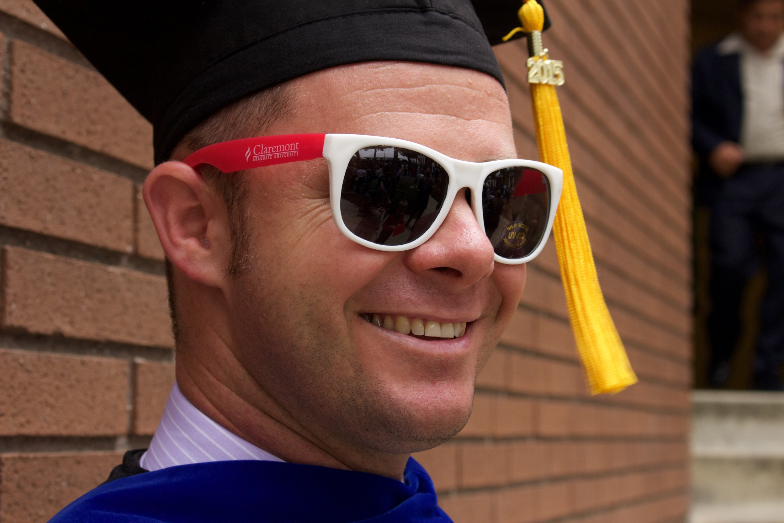Official CGU Class of 2015 sunglasses. It's good to see that all of that tuition went to  some  use.