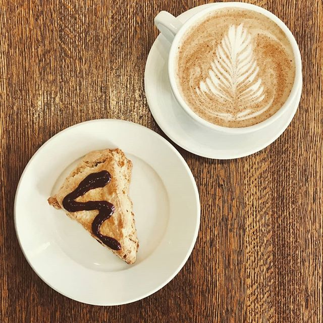 Rainy day? Into sunny day? Any day is the right day for a latte and a scone and a good morning greeting!