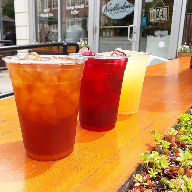 Ever tasted any of our cold brewed iced teas? Featured here: Earl Grey, Crimsonberry, and Ginger Lemonade. Crisp, lovely, and refreshing.