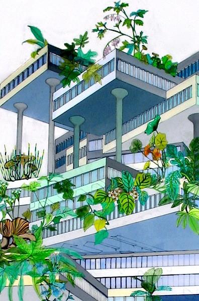 Vertical Garden (Weeds), detail