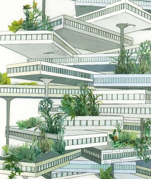 Vertical Garden (Marshes), detail
