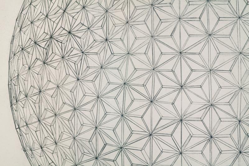 Geodesic Sphere (Day) - detail