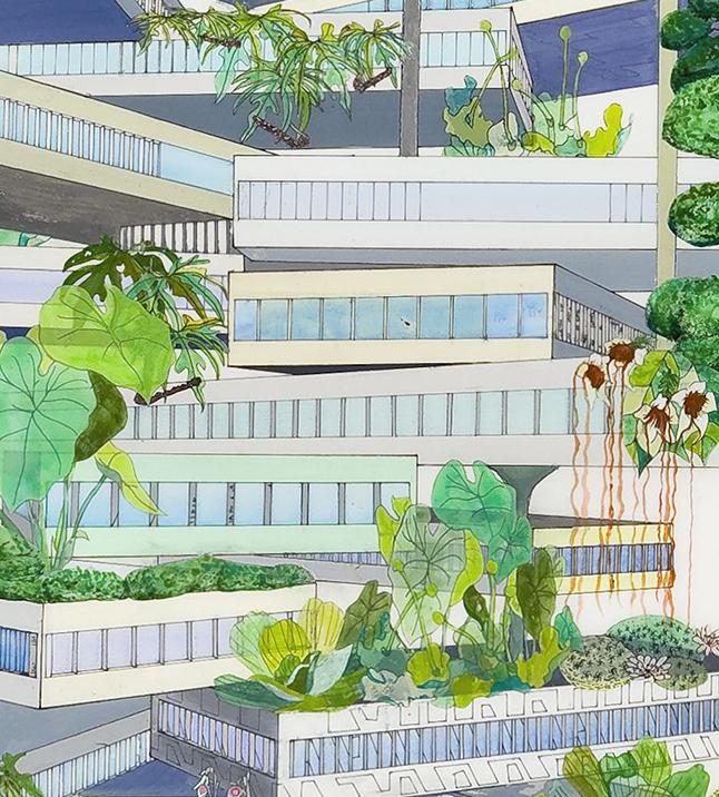 Vertical Garden (Topiaries), detail