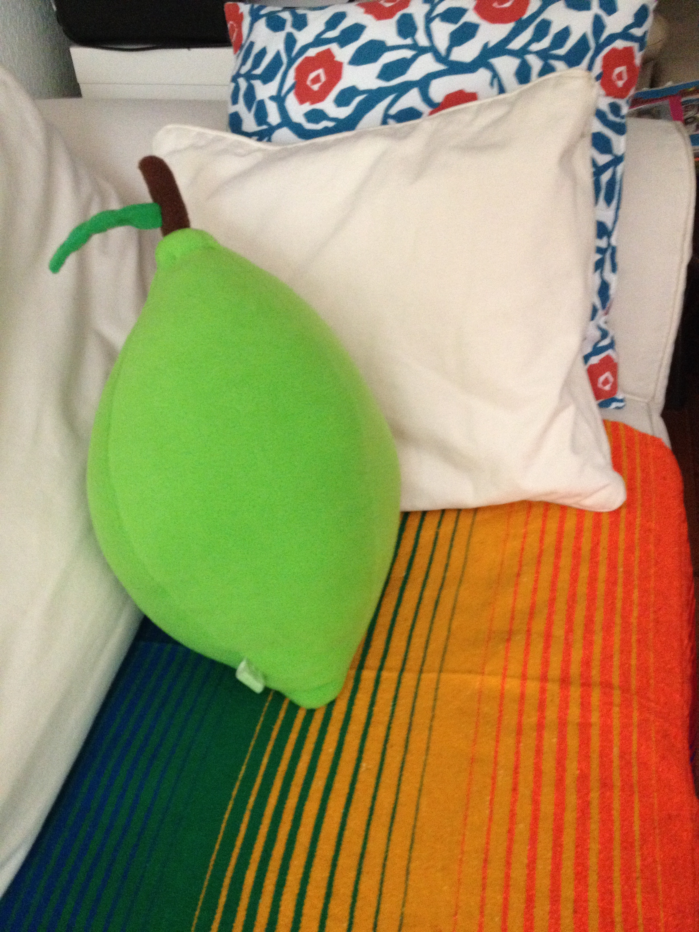 Check out our rad new lime pillow, courtesy of our new friend Amy of  Jumbo Jibbles .