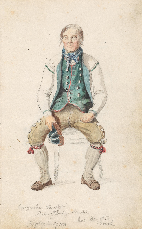 Niri Knutson Vangestad, Flesberg 24. juni 1844. Foto: Nasjonalmuseet CC-BY-NC