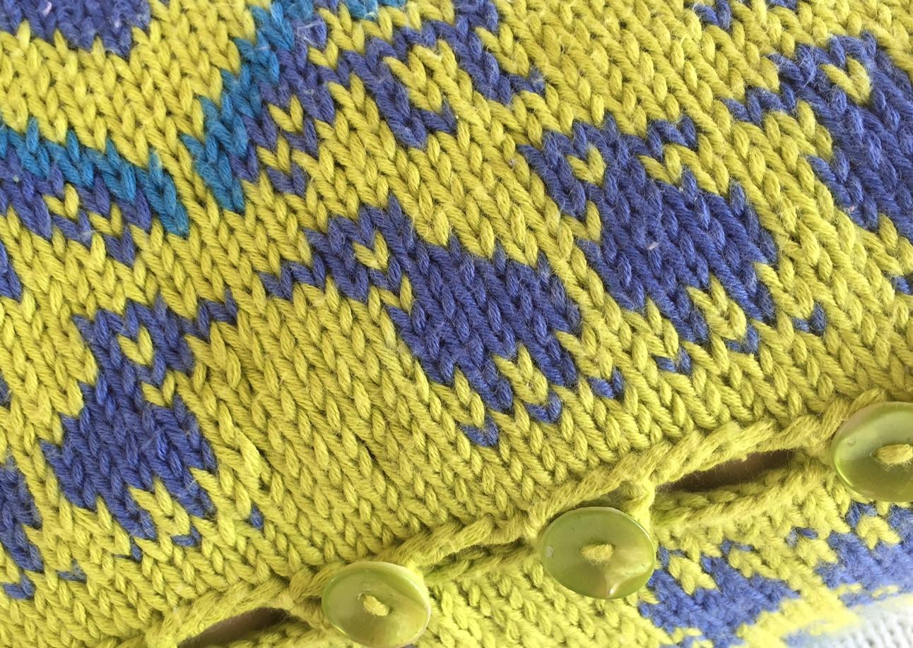 Detalj av pute fra boken Putefest. Foto: Nina Granlund Sæther