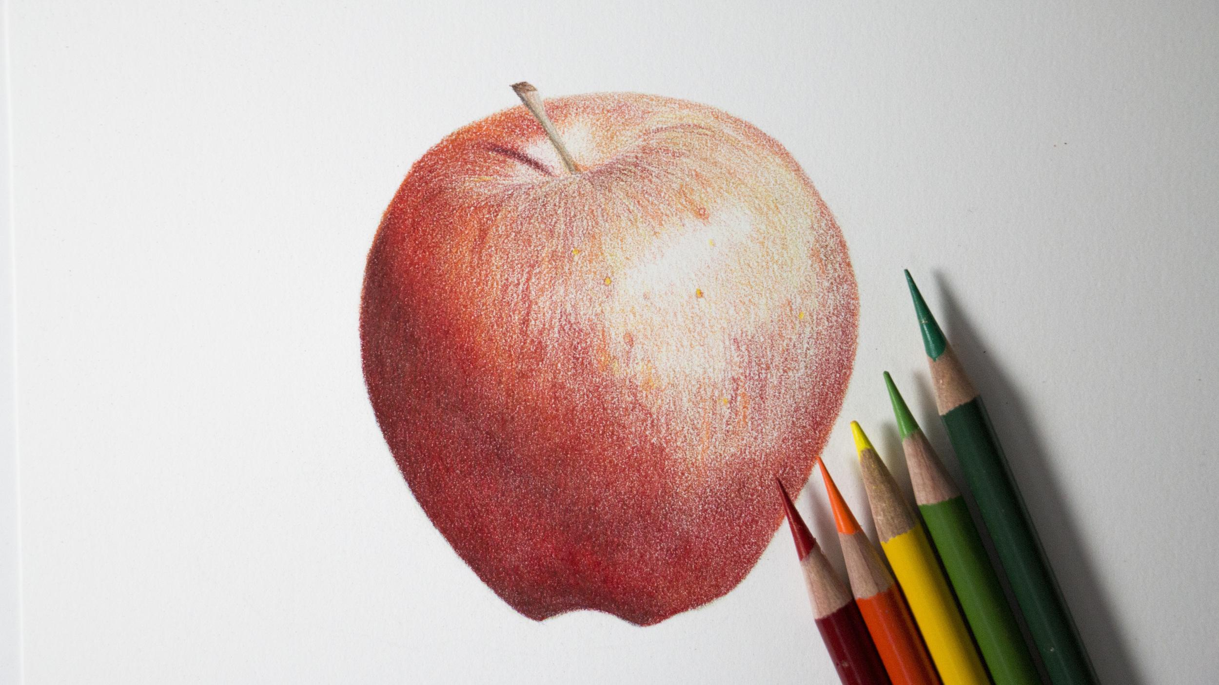 Red Apple Tutorial Sharpened Artist