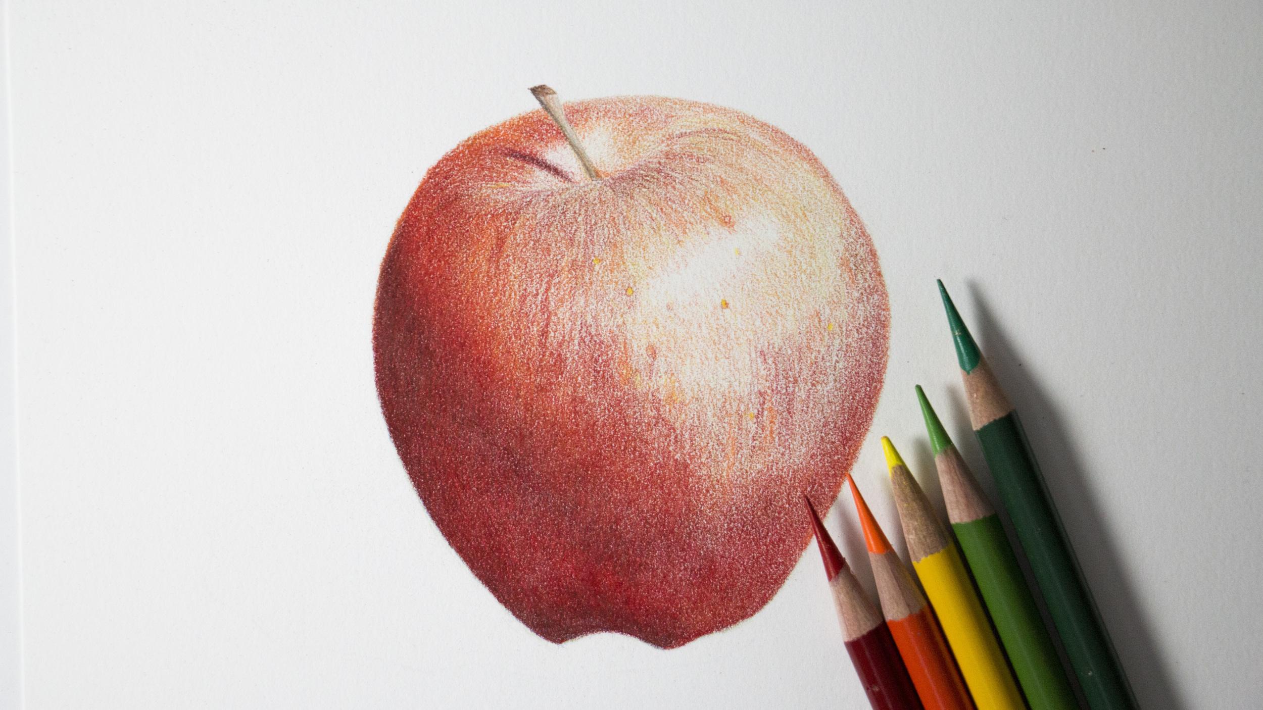 Red Apple Tutorial Sharpened Artist