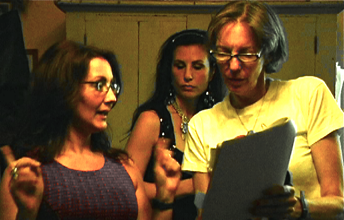 (l to r) Christine Cook, Jennifer Sklias-Gahan, Anne Flournoy  (episode 33)   screen grab from video by Sean Fox