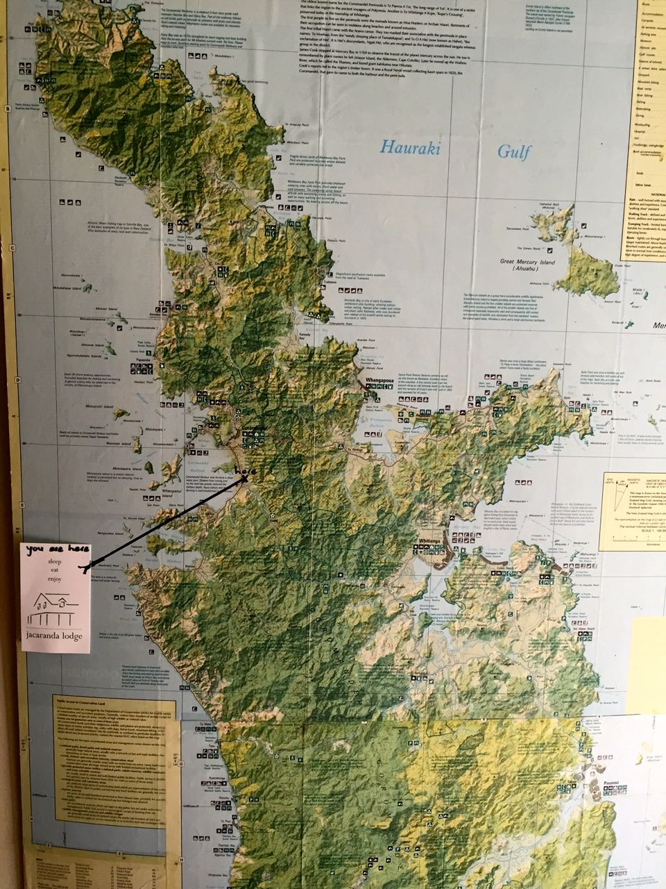 The Coromandel Peninsula is a few hours from Auckland.